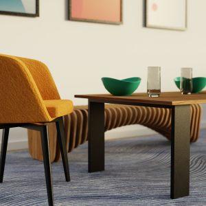 Stolik kawowy i fotel
