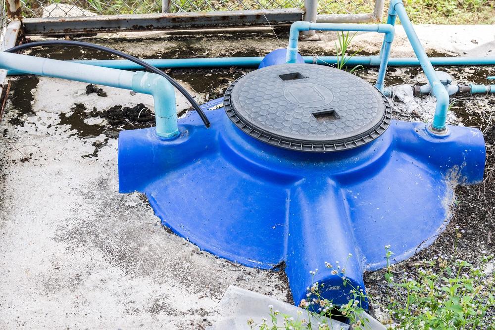 Podziemny zbiornik wody deszczowej.