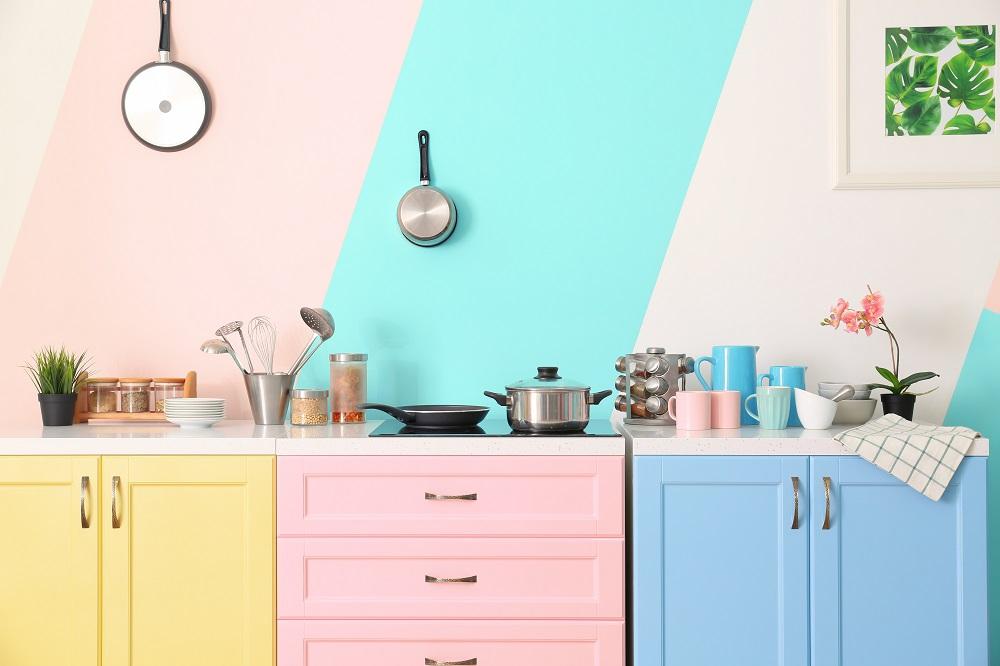 Kolorowe meble kuchenne
