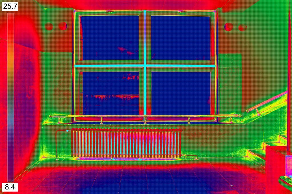 okno-termowizja-kaloryfer-pokój-uszczelki-okienne-termoizolacja