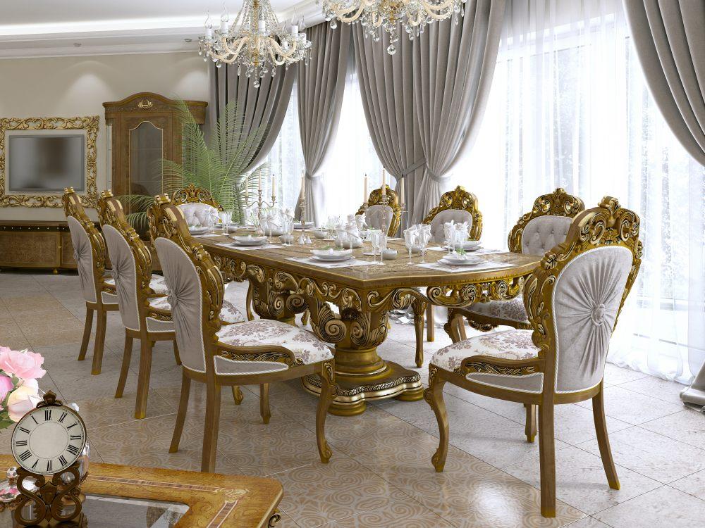 stół-barokowy-krzesła