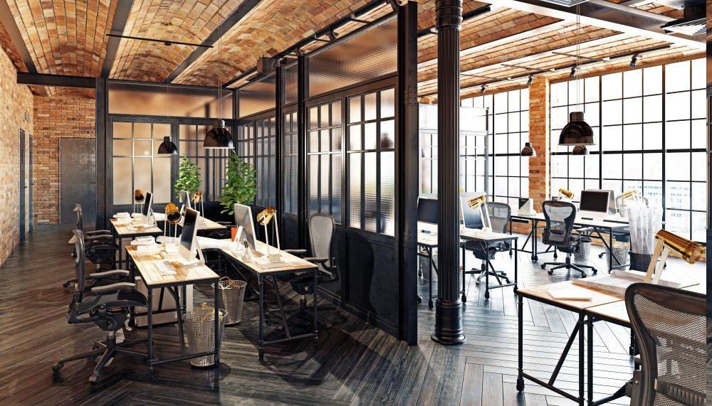 styl-industrialny-przemysłowy-biuro