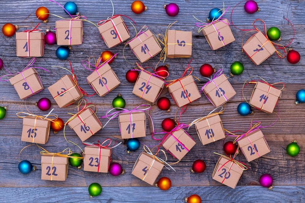 Kalendarz adwentowy w pudełkach