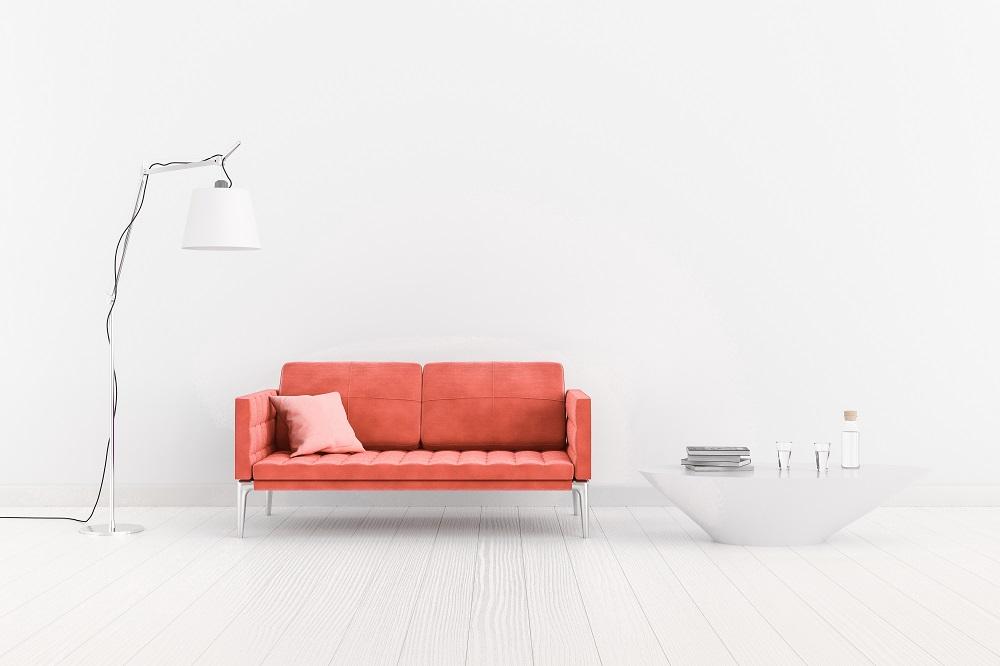 Sofa w kolorze Living Coral
