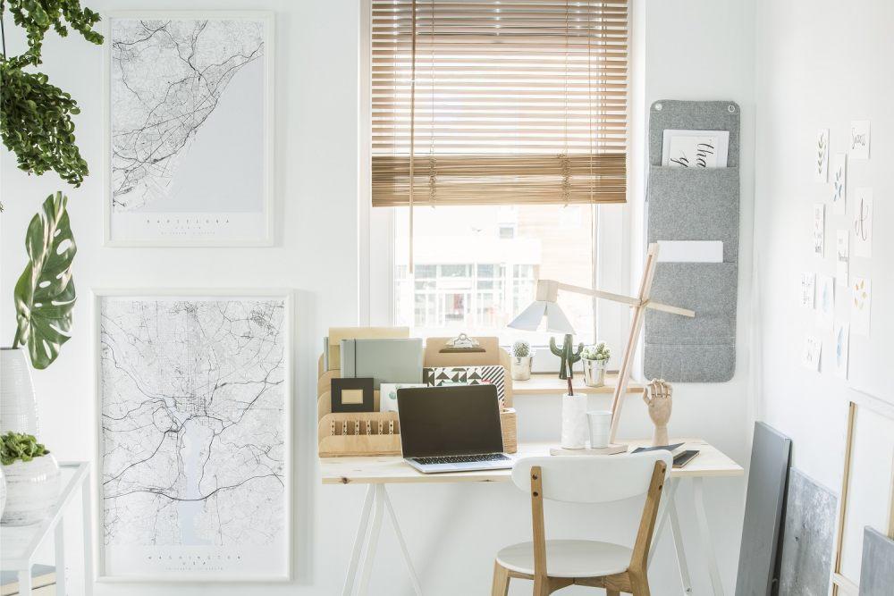 5 pomysłów, jak stworzyć wygodne biuro w domu 2
