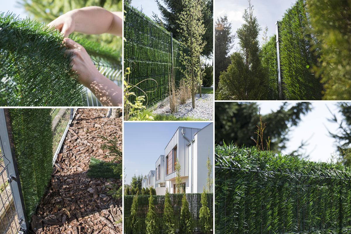 Osłona na ogrodzenie GreenFences - przykłady zastosowania