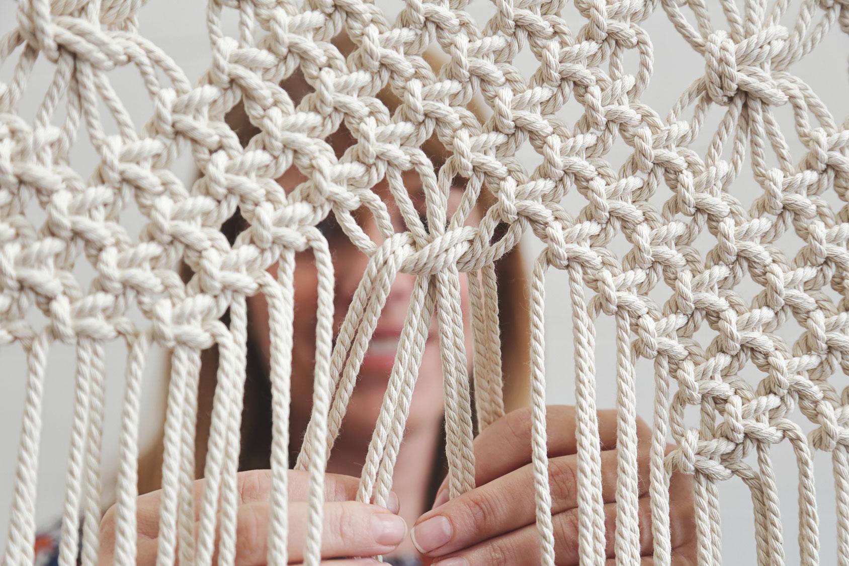 Makrama z liny bawełnianej