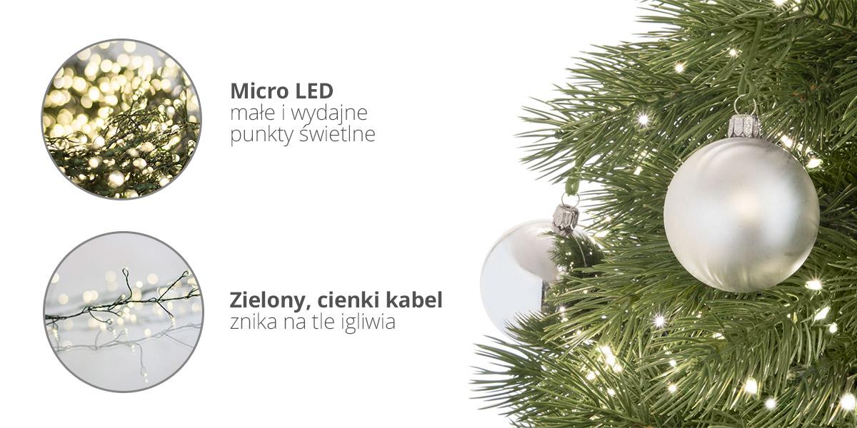 Zalety lampek choinkowych LED FairyTrees