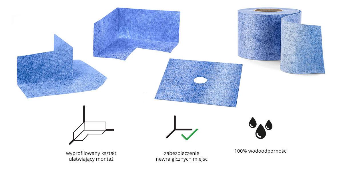 Mankiet uszczelniający - zestaw do hydroizolacji łazienki