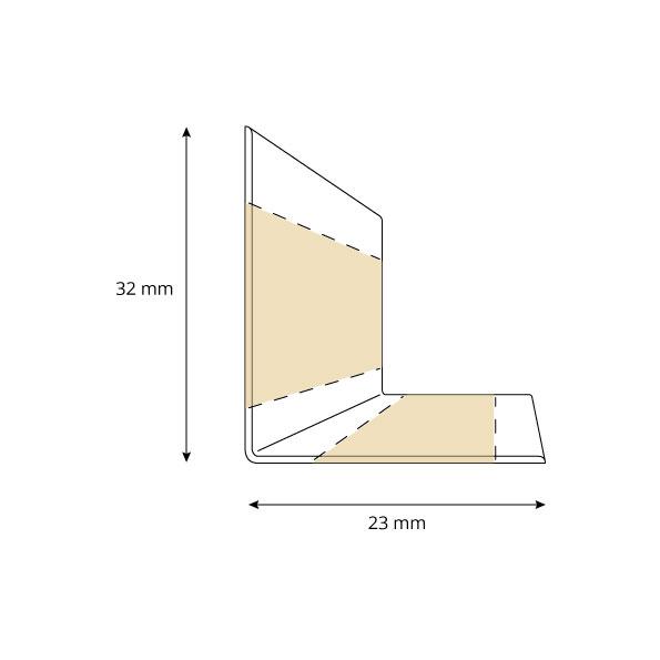 Listwa przypodłogowa miękka 32x23 mm