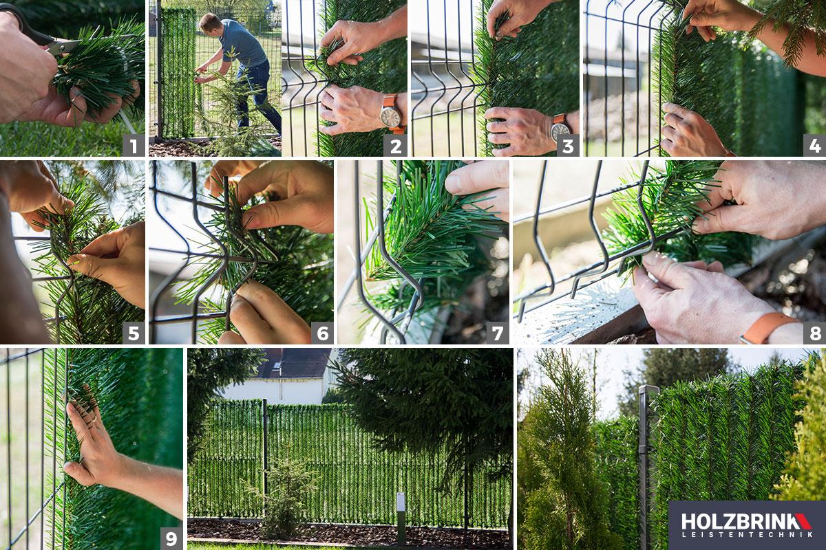 Jak zamontować osłonę na ogrodzenie?