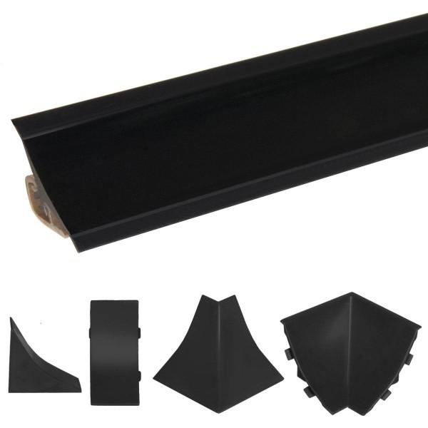 Listwa przyblatowa do blatu kuchennego 150 cm PVC czarna