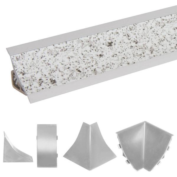 Listwa przyblatowa do blatu kuchennego 150 cm PVC granit jasny
