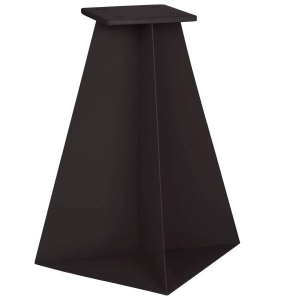 Stalowa podstawa do parasola ogrodowego o wymiarach 30x30x50 cm kolor RAL 9005 (czarny głęboki)