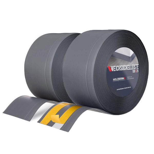 Weichsockelleiste GRAPHIT Knickleiste Profil 100x25mm