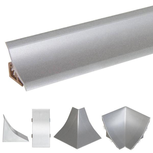 Listwa przyblatowa do blatu kuchennego 150 cm PVC aluminium srebrne