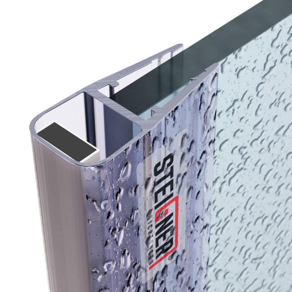 Uszczelka do drzwi kabiny prysznicowej UKM02 magnetyczna do szyby