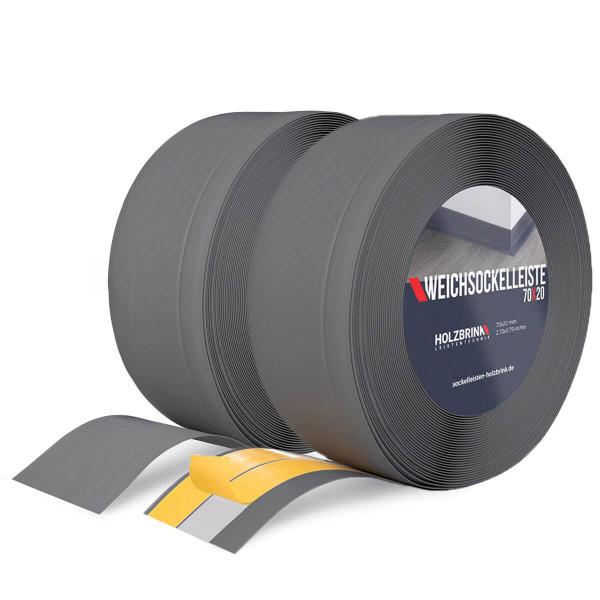 Listwa przypodłogowa miękka PVC gumowa 70x20 mm grafitowa PREMIUM