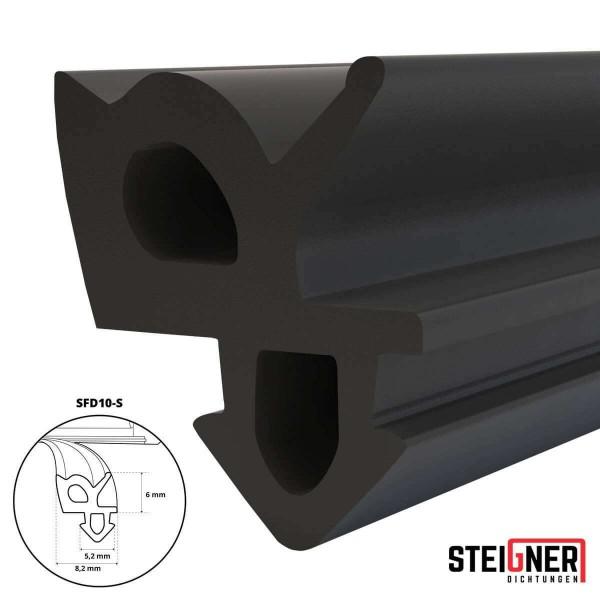 Uszczelka do okien i drzwi drewnianych oraz pcv SFD10-S czarna