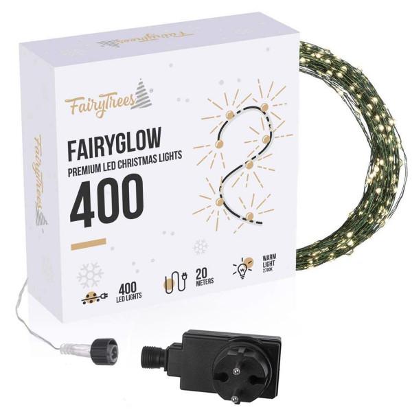Lampki choinkowe LED 20m FairyGlow 400 Premium