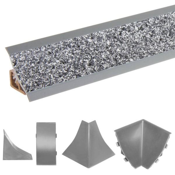 Listwa przyblatowa do blatu kuchennego 150 cm PVC granit ciemny