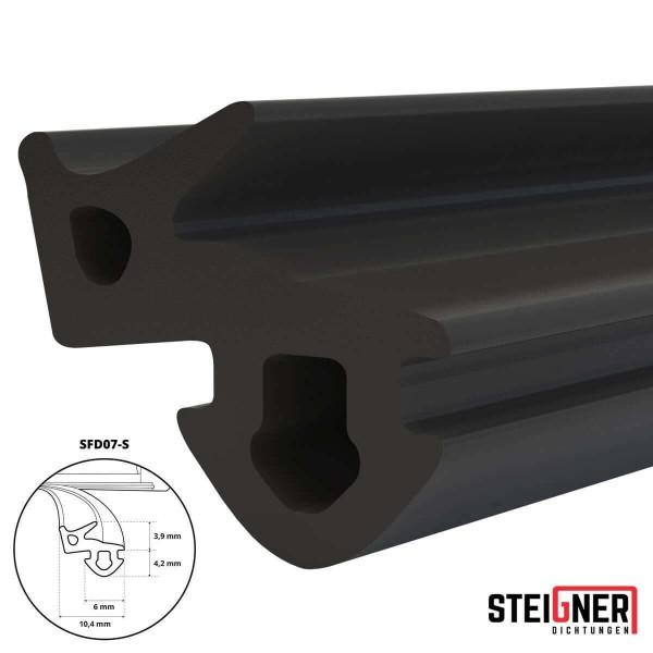 Uszczelka do okien i drzwi drewnianych oraz pcv SFD07-S czarna