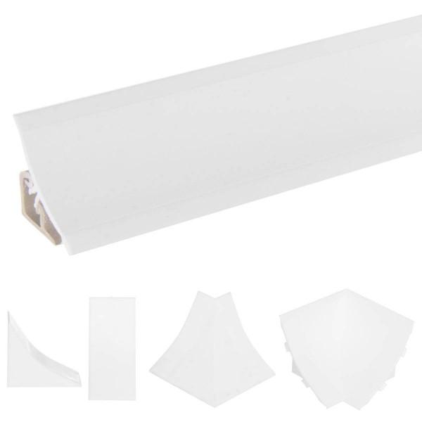 Listwa przyblatowa do blatu kuchennego 150 cm PVC biała