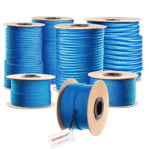 Lina polipropylenowa PP linka fi 8 mm pleciona niebieska
