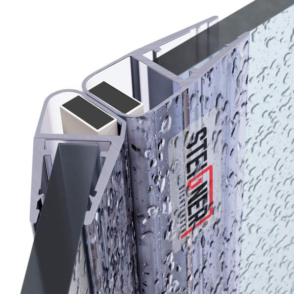 Zestaw 2 uszczelek do drzwi kabiny prysznicowej 135° UKM04 magnetyczna do szyby