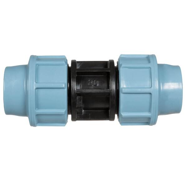 Przelot PP 20mm do przedłużania i łączenia rur doprowadzających