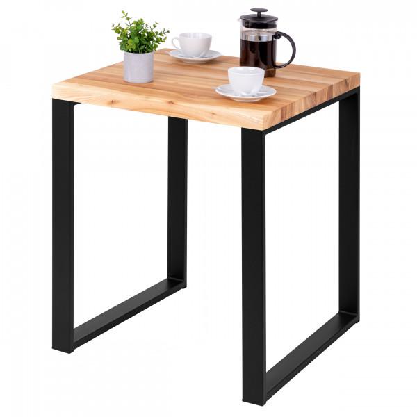 Stół kuchenny 60x60x76 cm, blat drewniany
