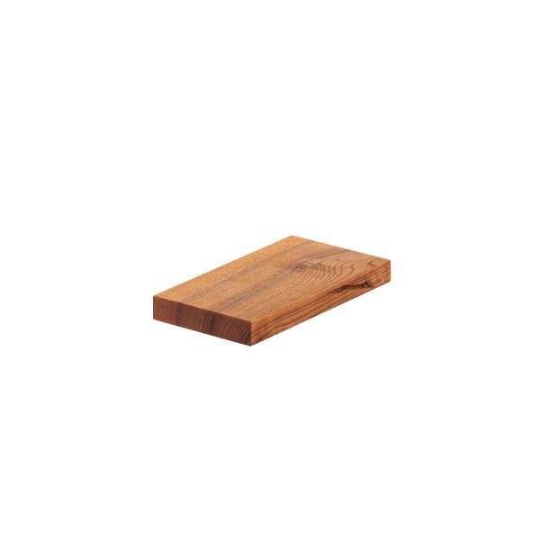 Półka wisząca z litego drewna jesionu, krawędź 90°
