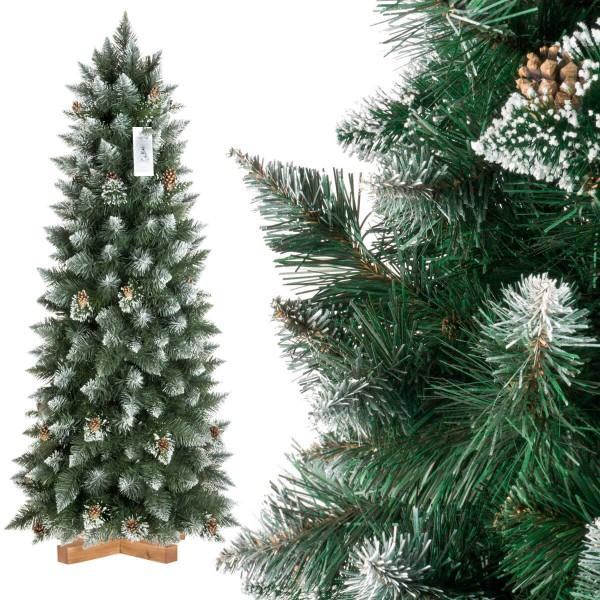 Choinka świąteczna Sosna Naturalna Ośnieżona Slim