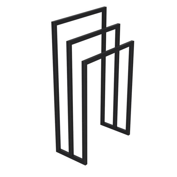 Industrialny stojak na ręczniki - 3 poziomy, wolnostojący, głębokość 20 cm, HLMH-01B