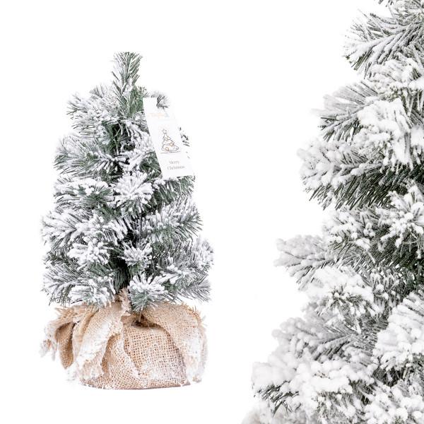 Choinka świąteczna Świerk Naturalny ze śniegiem mini