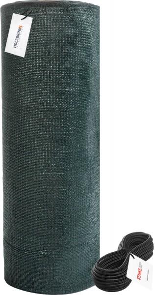 Siatka cieniująca z linką montażową, zacienienie 80%, panel ogrodzeniowy 90g/m², HZB-01C