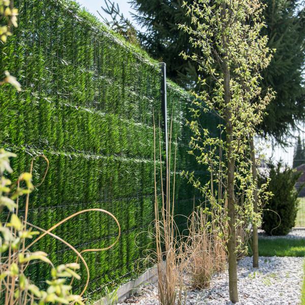Jasnozielona osłona na ogrodzenie sztuczny żywopłot GreenFences 160 cm