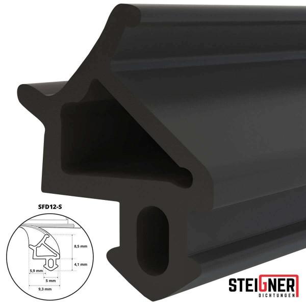 Uszczelka do okien i drzwi drewnianych oraz pcv SFD12-S czarna