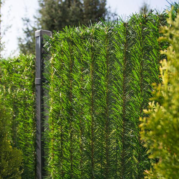 Jasnozielona osłona na ogrodzenie sztuczny żywopłot GreenFences 130 cm