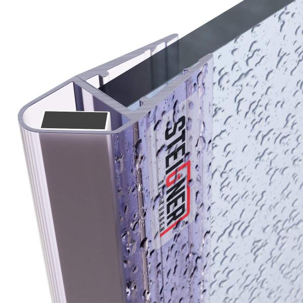 Uszczelka do drzwi kabiny prysznicowej UKM04 magnetyczna do szyby