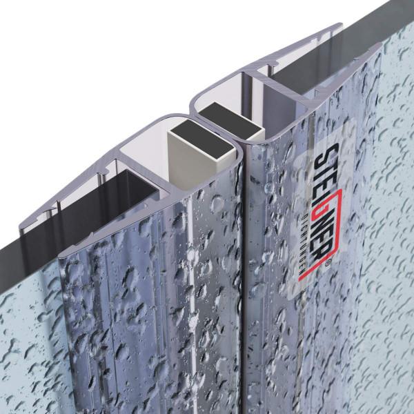Zestaw 2 uszczelek do drzwi kabiny prysznicowej 180° UKM02 magnetycznych do szyby