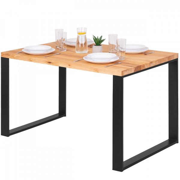 Stół do jadalni, stół kuchenny, prosta krawędź, 120x80x76 cm