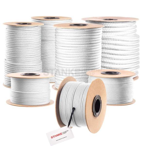 Lina polipropylenowa PP linka fi 10 mm pleciona biała