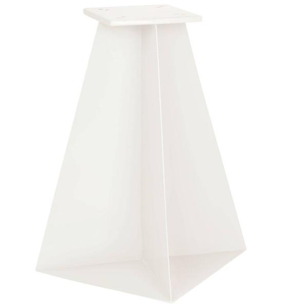 Stalowa podstawa do parasola ogrodowego o wymiarach 30x30x50 cm kolor RAL 9016 (biały beskidzki)