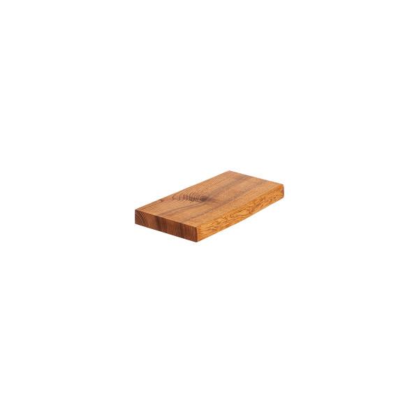 Półka ścienna, półka drewniana z jesionu, stopień schodowy, naturalna, szczotkowana krawędź
