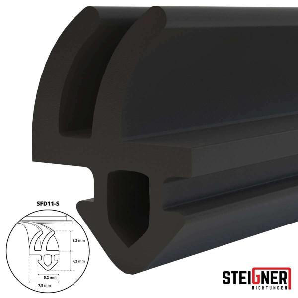 Uszczelka do okien i drzwi drewnianych oraz pcv SFD11-S czarna