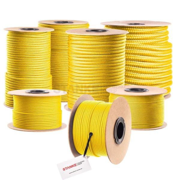 Lina polipropylenowa PP linka fi 4 mm pleciona żółta