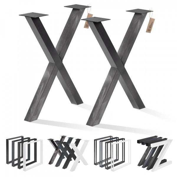 2 metalowe nogi do stołu, biurka, wysokość 72 cm