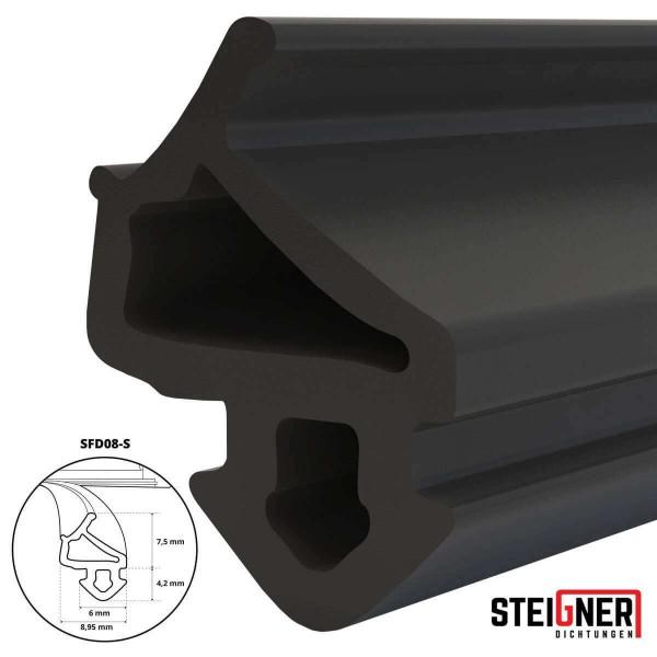 Uszczelka do okien i drzwi drewnianych oraz pcv SFD08-S czarna
