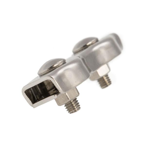 Zacisk siodełkowy podwójny ze stali nierdzewnej 2 – 8 mm